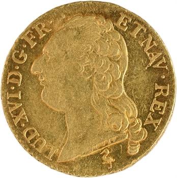 Louis XVI, louis d'or à la tête nue, 1786, 1er semestre, Paris