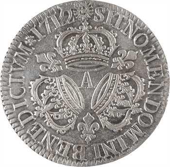 Louis XIV, écu aux trois couronnes, 1712 Paris