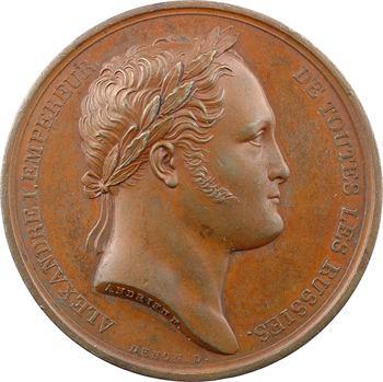 Russie, Alexandre Ier, son séjour à Paris, par Andrieu, 1814 Paris