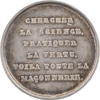 Orient de Chalon-sur-Saône, jeton maçonnique, les Vrais Zélés, s.d. (1832-1841) Paris