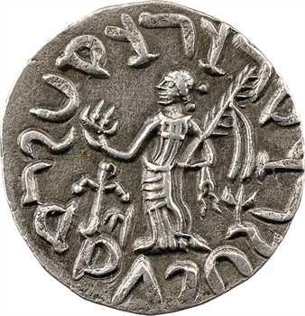 Royaume Indo-Scythe, Azès Ier, tétradrachme (déesse), c.57-35 av. J.-C. Taxila