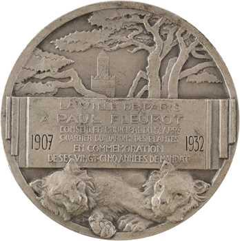 Monier (E.) : 25e année du mandat de Paul Fleurot, 1907-1932 Paris