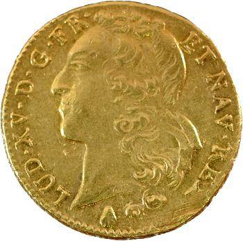 Louis XV, double louis d'or au bandeau, 1756 Perpignan