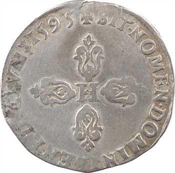 Henri IV, demi-franc, 1595 Troyes