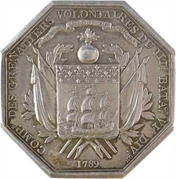 Convention, le Général Lafayette, commandant des grenadiers volontaires, par Dumarest, 1789 Paris