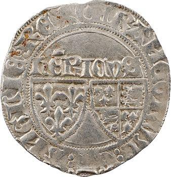 Henri VI, blanc aux écus (croissant points à droite), Châlons-en-Champagne