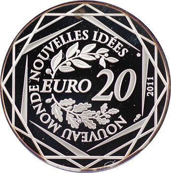 Ve République, 20 euros argent, sommet du G20, 2011 Paris