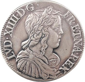 Louis XIV, demi-écu à la mèche longue, 1651 La Rochelle