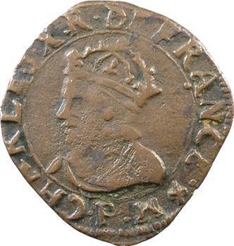 Charles X, double tournois, 1593 Dijon