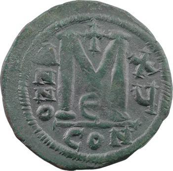 Justinien Ier, follis, Constantinople, 5e officine, AN XV = 541-542