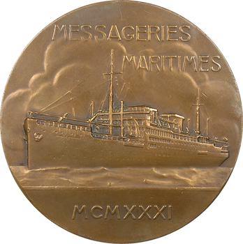 IIIe République, Compagnie des Messageries Maritimes, le paquebot Georges Philippar (Extrême-Orient), par Maillard, 1931