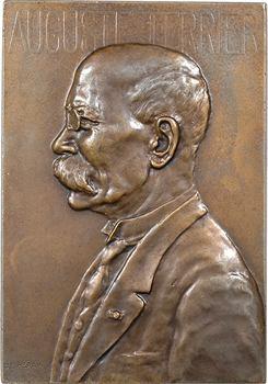 Afrique française : Auguste Terrier, plaque par De Hérain, 1931 Paris