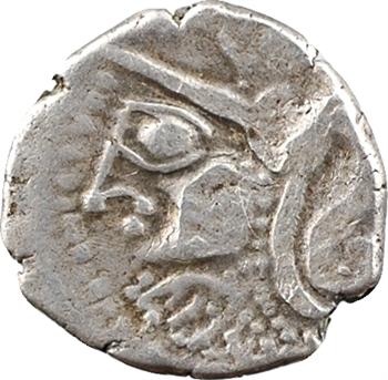 Carnutes (ou Cénomans), denier à la tête de Pallas à gauche, c.80-50 av. J.-C