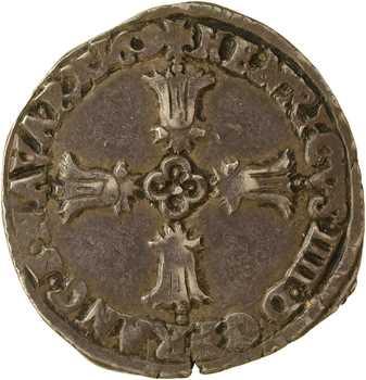 Henri IV, quart d'écu, croix feuillue de face, 1609 Bayonne