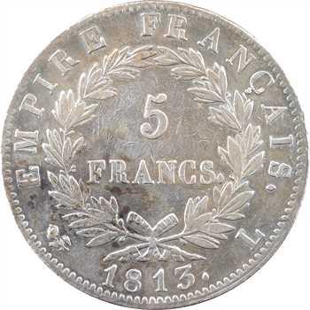 Premier Empire, 5 francs Empire, 1813 Bayonne