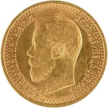 Russie, Nicolas II, 7 1/2 roubles, 1897 Saint-Pétersbourg