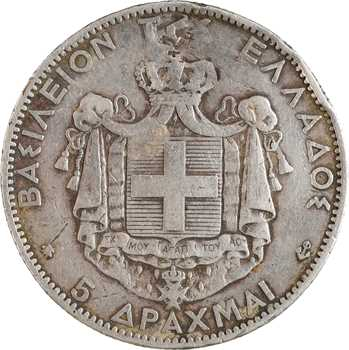 Grèce (Royaume de), Georges Ier, 5 drachmes, s.d. Paris