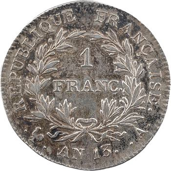 Premier Empire, 1 franc calendrier révolutionnaire, An 13 Paris
