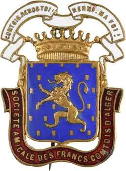 Algérie, badge de la société amicale des francs-comtois d'Alger, s.d