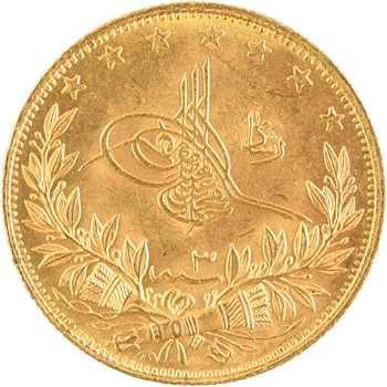 Turquie, Mohammed V, 100 kurush, AH 1327/3 (1911) Constantinople