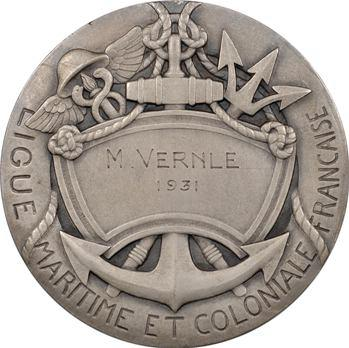 Ligue maritime et coloniale, médaille attribuée à M. Vernle, 1931 Paris