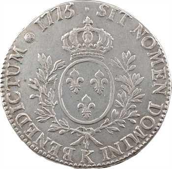 Louis XVI, écu aux branches d'olivier, 1775 Bordeaux