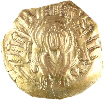 Andronique II et Andronique III, hyperpyron (scyphate), Constantinople, 1325-1334