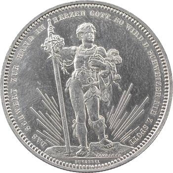 Suisse, Bâle, 5 francs ou thaler de tir, 1879