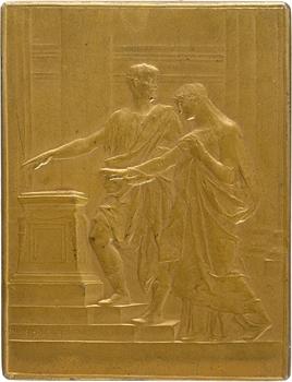 Daniel-Dupuis (J.-B.) : plaquette de mariage, 1903 Paris