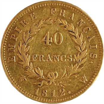 Premier Empire, 40 francs Empire, 1812 Lille