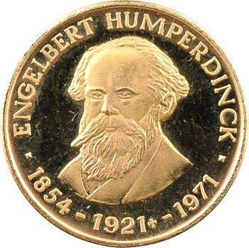 Allemagne, cinquantenaire de la mort d'Endelbert Humperdinck, médaille en or PROOF, 1971