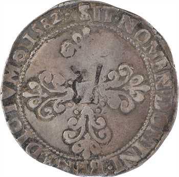 Henri III, franc au col plat, 1582 Saint-Lô