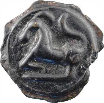Séquanes, potin à la grosse tête au bandeau lisse, c.60-50 av. J.-C