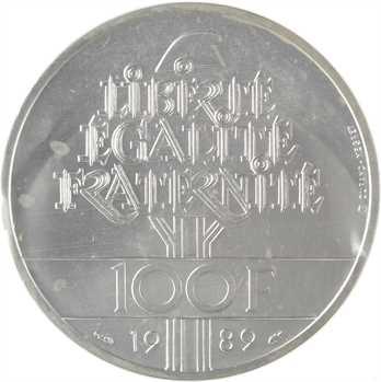 Ve République, essai de 100 francs Droits de l'homme, 1989 Pessac