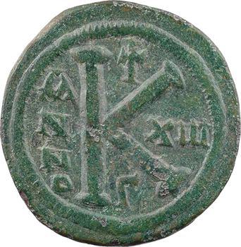Justinien Ier, demi-follis, Constantinople, 3e officine, An 13 = 539-540
