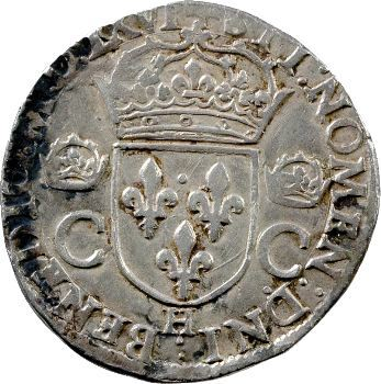 Charles IX, teston, 1566 La Rochelle