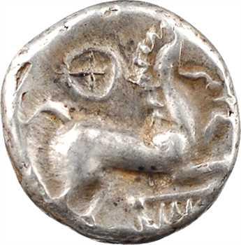 Éduens, denier au cheval et à la lyre, IIe-Ier s. av. J.-C