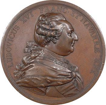 Louis XVI, visite du Roi lors de la construction de la digue de Cherbourg avec des cônes, 1786 Paris