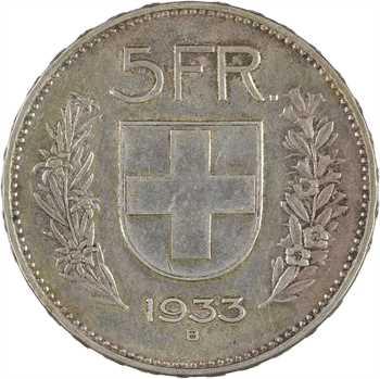 Suisse, Confédération Helvétique, 5 francs, 1933 Berne