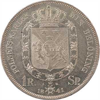 Suède, Charles XIV Bernadotte, riksdaler specie 1er type, 1841 Stockholm