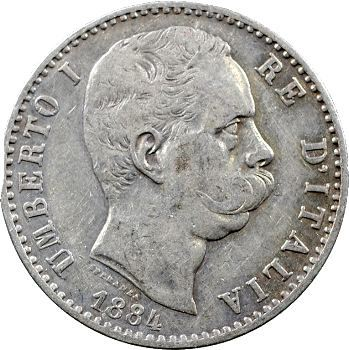 Italie (royaume d'), Humbert Ier, 2 lire, 1884 Rome