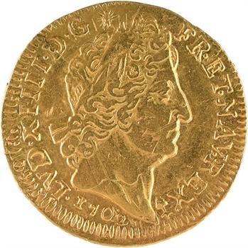 Louis XIV, louis d'or aux huit L et aux insignes, 1702 Besançon