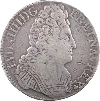 Louis XIV, écu aux trois couronnes, 1709 Troyes