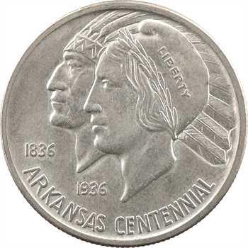 États-Unis, demi-dollar, centenaire de l'Arkansas (Liberté/Indien), 1935 Philadelphie