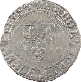 Charles VIII, blanc à la couronne, après 1494, Troyes