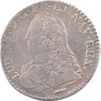 Louis XV, dixième d'écu aux rameaux d'olivier, 1726 Amiens