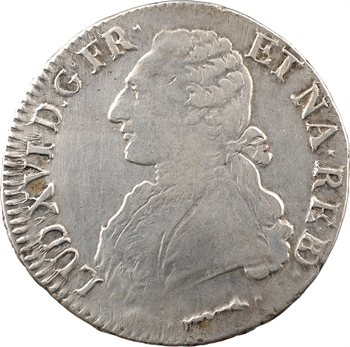 Louis XVI, écu aux branches d'olivier du Béarn, 1778 Pau