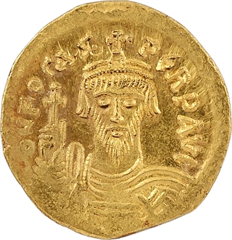 Phocas, solidus, Constantinople, 6e officine, 607-610