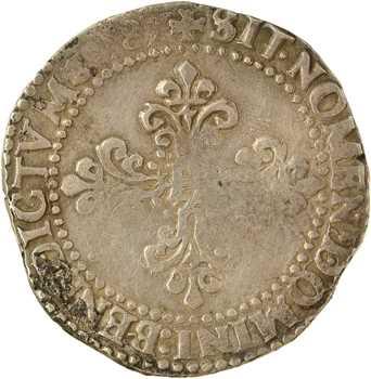Henri III, demi-franc au col gaufré, 1587 Paris