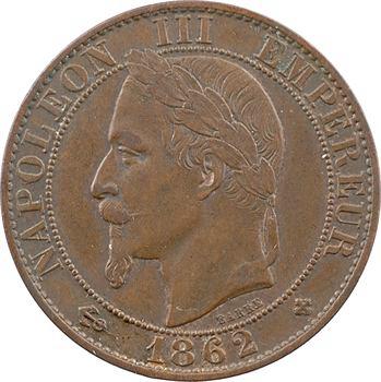 Second Empire, cinq centimes tête laurée, 1862 Strasbourg